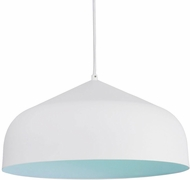Kuzco PD9117-WH-BU Helena Modern White with Blue LED Pendant Hanging Light
