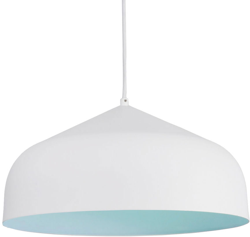 Kuzco Pd9117 Wh Bu Helena Modern White With Blue Led Pendant Hanging Light Loading Zoom