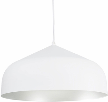 Kuzco PD9117-WH-SV Helena Contemporary White with Silver LED Drop Ceiling Lighting