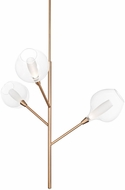 Kuzco PD91403-VB-07 Sprout Contemporary Vintage Brass LED Chandelier Light