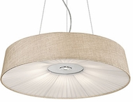 Kuzco PD9527-BG Chrome LED 28  Drum Drop Ceiling Light Fixture