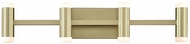Kuzco VL16727-BB Brazen Modern Brushed Brass LED 4-Light Bathroom Light
