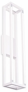 Kuzco VL34424-WH Plaza Modern White LED Bathroom Light Sconce