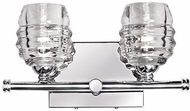 Kuzco VL52112-CH Honeycomb Contemporary Chrome LED 2-Light Bathroom Vanity Light Fixture