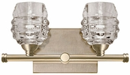 Kuzco VL52112-VB Honeycomb Modern Vintage Brass LED 2-Light Bathroom Wall Sconce