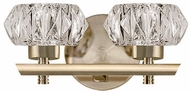 Kuzco VL54210-VB Basin Vintage Brass LED 2-Light Bathroom Light