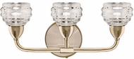 Kuzco VL54516-VB Nest Modern Vintage Brass LED 3-Light Bathroom Vanity Light