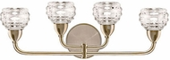 Kuzco VL54522-VB Nest Modern Vintage Brass LED 4-Light Bath Sconce