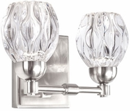 Kuzco VL56210-BN Tulip Contemporary Brushed Nickel LED 2-Light Vanity Light Fixture