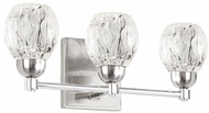 Kuzco VL56216-BN Tulip Contemporary Brushed Nickel LED 3-Light Bathroom Vanity Light Fixture