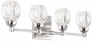 Kuzco VL56221-BN Tulip Contemporary Brushed Nickel LED 4-Light Bath Wall Sconce