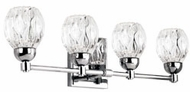 Kuzco VL56221-CH Tulip Modern Chrome LED 4-Light Bathroom Light Sconce