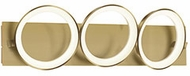 Kuzco VL94826-AN Oros Contemporary Antique Brass LED 3-Light Bathroom Lighting Sconce