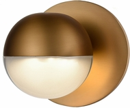 Kuzco WS47305-VB Pluto Contemporary Vintage Brass LED Lamp Sconce