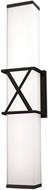 Kuzco WS7022-BK X-Calibur Contemporary Black LED Wall Light Fixture
