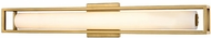 Kuzco WS83427-VB Lochwood Contemporary Vintage Brass LED 27  Bathroom Lighting Sconce