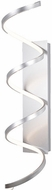 Kuzco WS93736-AS Synergy Contemporary Antique Silver LED Sconce Lighting