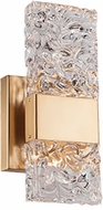 Kuzco WS9512-GB Oslo Contemporary Brushed Gold LED Wall Lighting Sconce