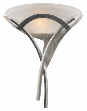 ELK 001-TS Aurora Transitional Tarnished Silver Wall Light Sconce