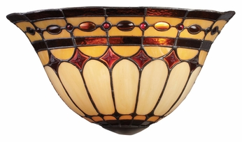 ELK 08032-BC Diamond Ring Tiffany Style 16 Inch Wide Wall Light - Burnished Copper