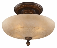 ELK 08095-AGB Restoration Flushes 19 Inch Diameter Golden Bronze Ceiling Light Fixture