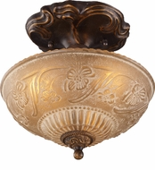 ELK 08103-AGB Restoration 3 Light 10 inch Semi Flush Ceiling Fixture