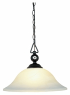 ELK 190-P-BK-G1 Modern 16 Inch Diameter 8 Ball Billiard Drop Ceiling Light