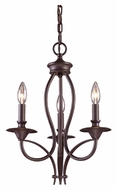 ELK 61031-3 Medford Small 3 Candle Oiled Bronze Traditional Chandelier