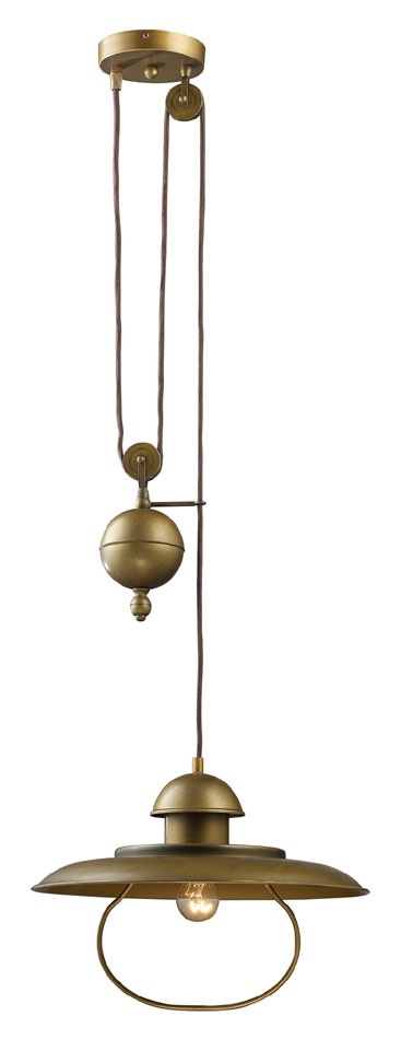 Elk 65051 1 Farmhouse 14 Inch Diameter Antique Brass