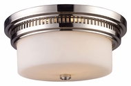 ELK 66111-2 Chadwick Flush Mount 13 Inch Diameter Polished Nickel Ceiling Light Fixture