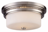 ELK 66121-2 Chadwick Satin Nickel Finish 13 Inch Diameter Flush Mount Ceiling Light