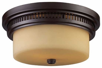 ELK 661312 Chadwick Vintage Flush Mount Ceiling Light in Oiled Bronze