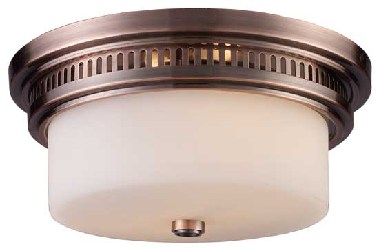 Elk 661412 Chadwick Vintage Flush Mount Ceiling Light In Antique Copper