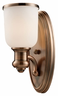 ELK 66180-1 Brooksdale Antique Copper Finish 13 Inch Tall Lamp Sconce - Transitional