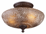 ELK 66191-3 Norwich Semi Flush Moutn Traditional Oiled Bronze Ceiling Light Fixture
