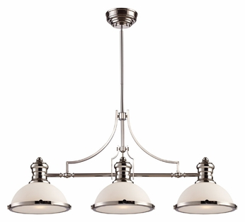 ELK 66215-3 Chadwick Polished Nickel Finish 47 Inch Wide Island Lighting Fixture