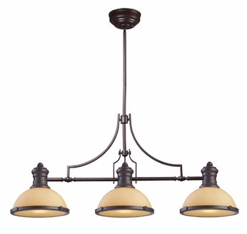 ELK 66235-3 Chadwick Contemporary Oiled Bronze 47 Inch Wide Kitchen Island Light