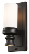 ELK 66250-1-1 Newfield 12 Inch Tall Opal Etched Glass Sconce Lighting - Oiled Bronze
