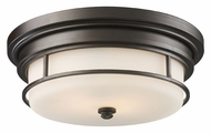 ELK 66254-2 Newfield Opal Etched Glass 13 Inch Diameter Flush Mount Lighting