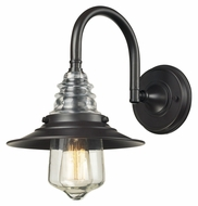 ELK 66812-1 Insulator Glass Vinteage 14 Inch Tall Oiled Bronze Wall Sconce Lighting