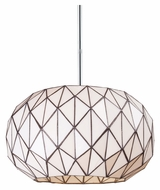ELK 72022-3 Tetra 16 Inch Diameter Modern Polished Chrome Hanging Pendant Light
