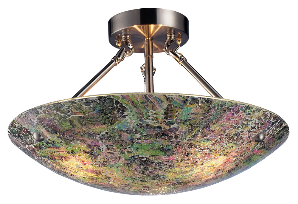 Elk 73022 3 Avalon Semi Flush Mount Led Gl Ceiling Light Fixture