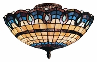 ELK 936-CB Victorian Ribbon 16 Inch Diameter Classic Bronze Tiffany Ceiling Light