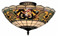 ELK 941-TB Tiffany Buckingham 16 Inch Diameter Semi Flush Lighting Fixture - Tiffany