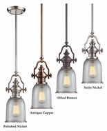 ELK Chadwick Clear Ribbed Glass 7 Inch Diameter Mini Pendant Lamp