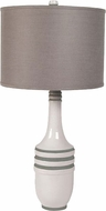 Lazy Susan 223055 Milk Metro White & Green Table Lamp