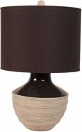 Lazy Susan 223059 Corrugated Trophy Gray & Black Table Lighting
