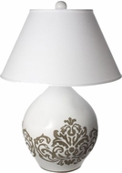 Lazy Susan 223078 Milk Damask White Table Lamp Lighting
