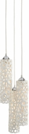 Lazy Susan 225060 Cholla Contemporary Off-White, Nickel Multi Hanging Pendant Lighting