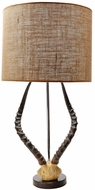Lazy Susan 225092 Faux Horn Brown Lighting Table Lamp